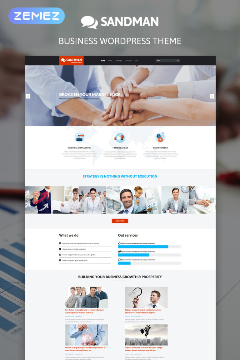 Business Bureau WordPress Theme New Screenshots BIG