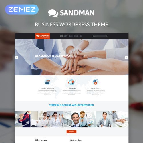 Sandman - WordPress Template based on Bootstrap