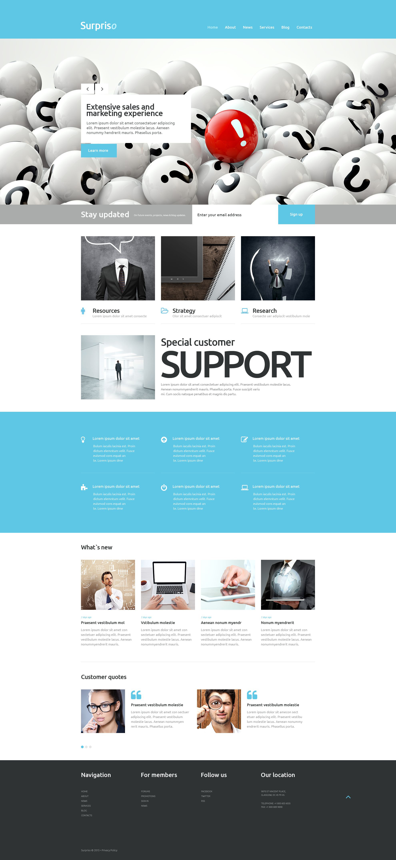 """""""Business"""" Responsive WordPress thema №53264 - screenshot"""