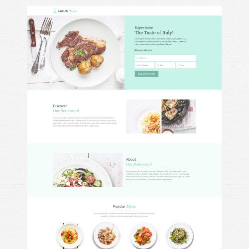Launch House - Responsive Landing Page Template