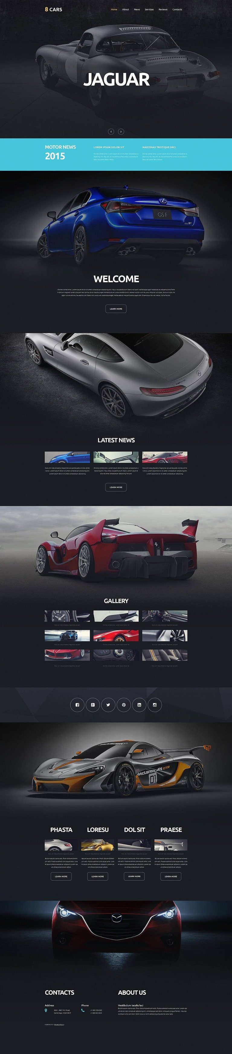Car Club Responsive Moto CMS 3 Template New Screenshots BIG
