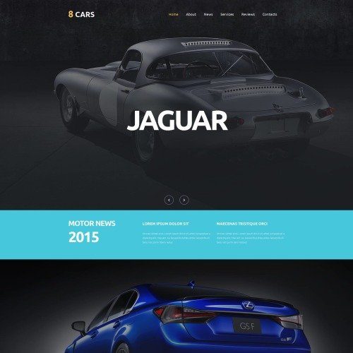 8 Cars - MotoCMS 3 Template based on Bootstrap