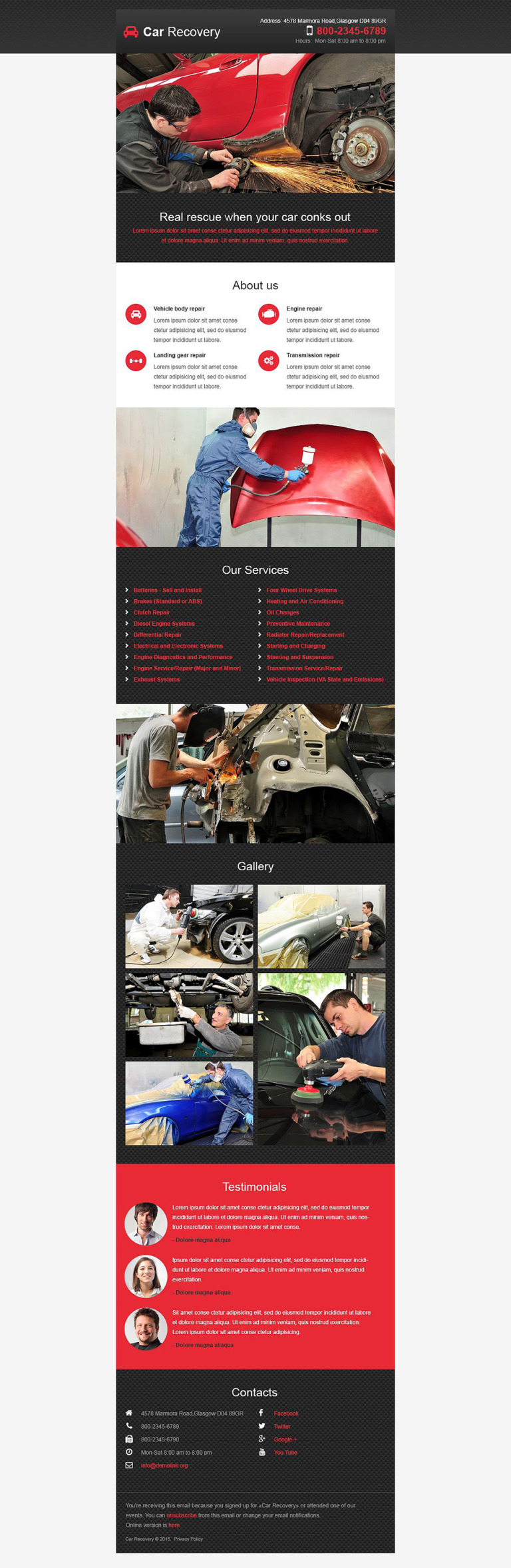 Car Repair Responsive Newsletter Template New Screenshots BIG