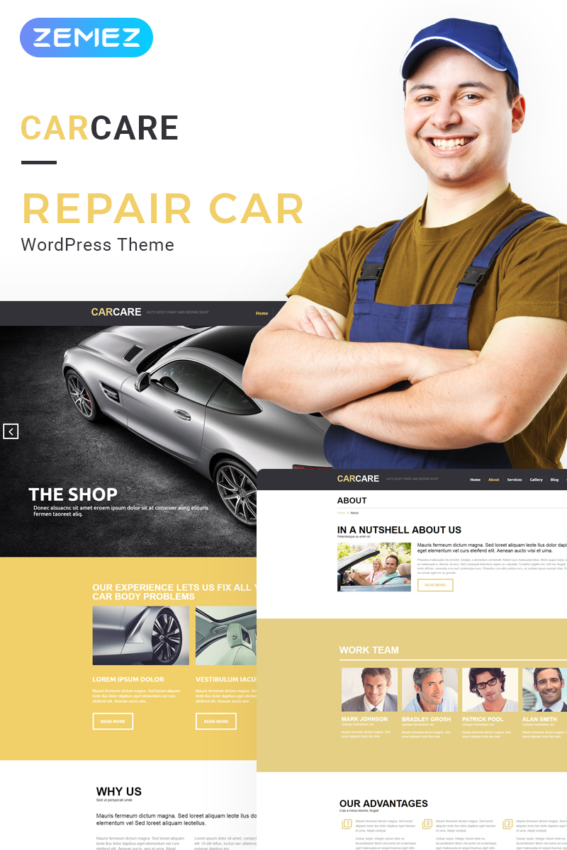 Car Repair Responsive WordPress Theme #53266