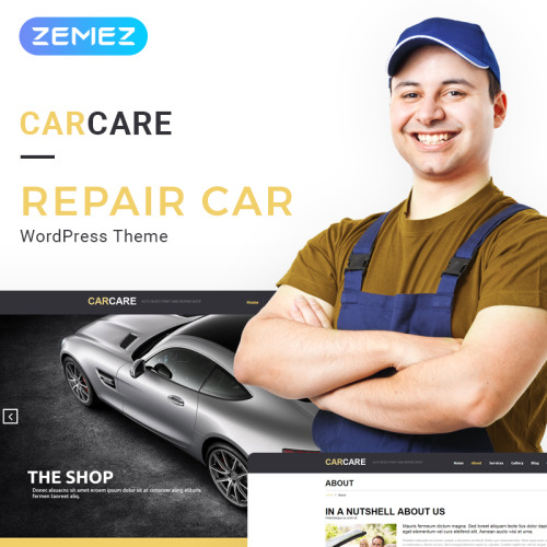 Car Care - WordPress Template based on Bootstrap