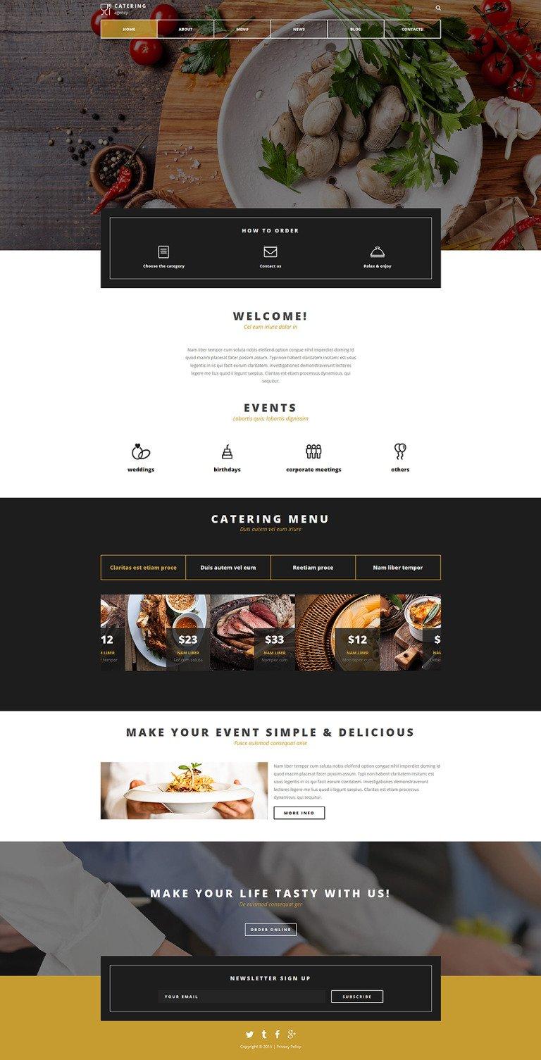 Catering Company Joomla Template New Screenshots BIG