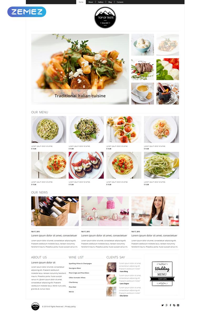 Cozy Restaurant Joomla Template