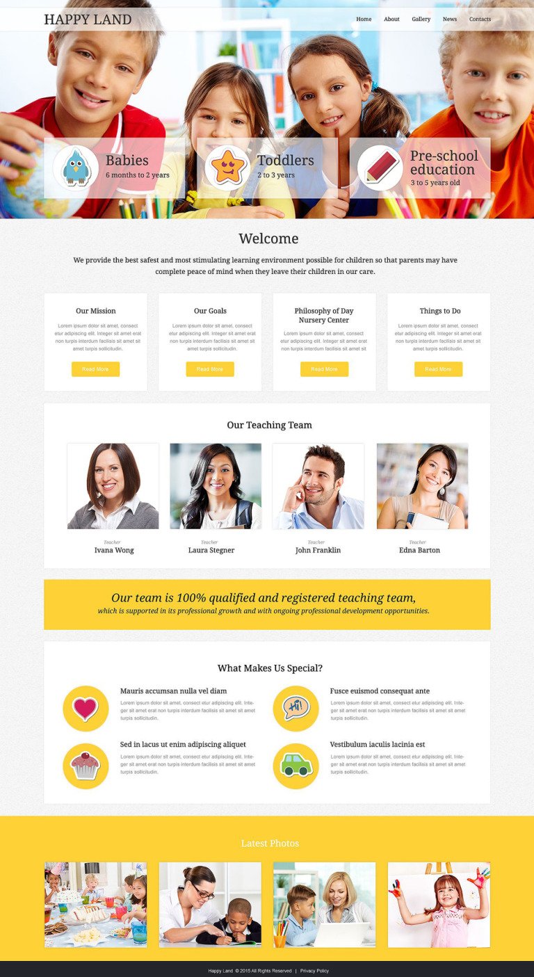 Day Care Responsive Website Template New Screenshots BIG