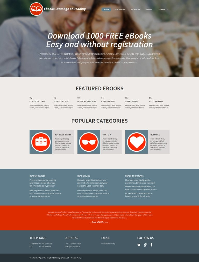 Ebook Responsive WordPress Theme New Screenshots BIG