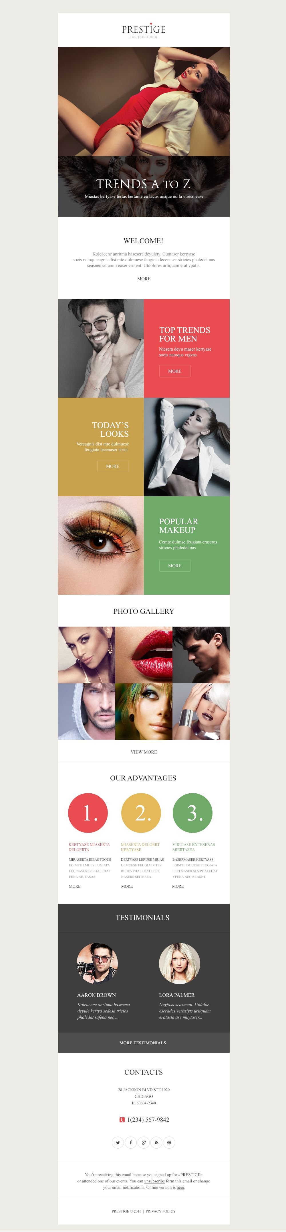 Fashion Responsive Newsletter Template #53293