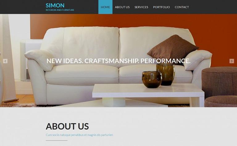 Interior & Furniture Responsive Moto CMS 3 Template