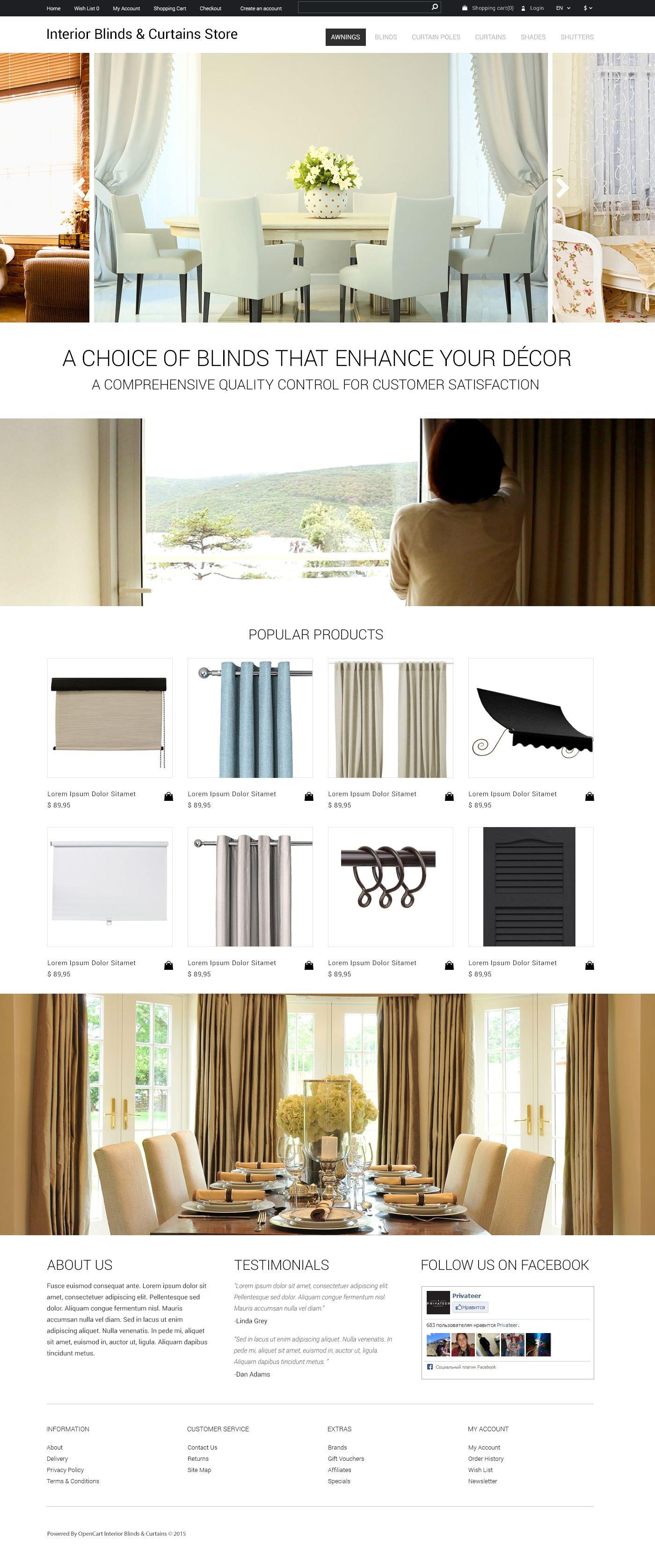 Interior Design OpenCart Template - screenshot