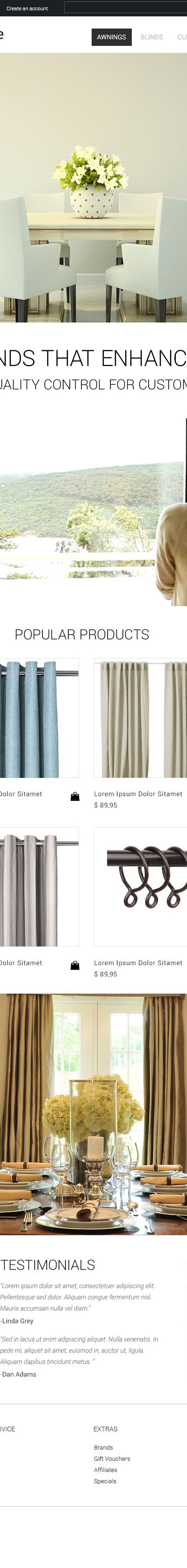 Interior Design OpenCart Template
