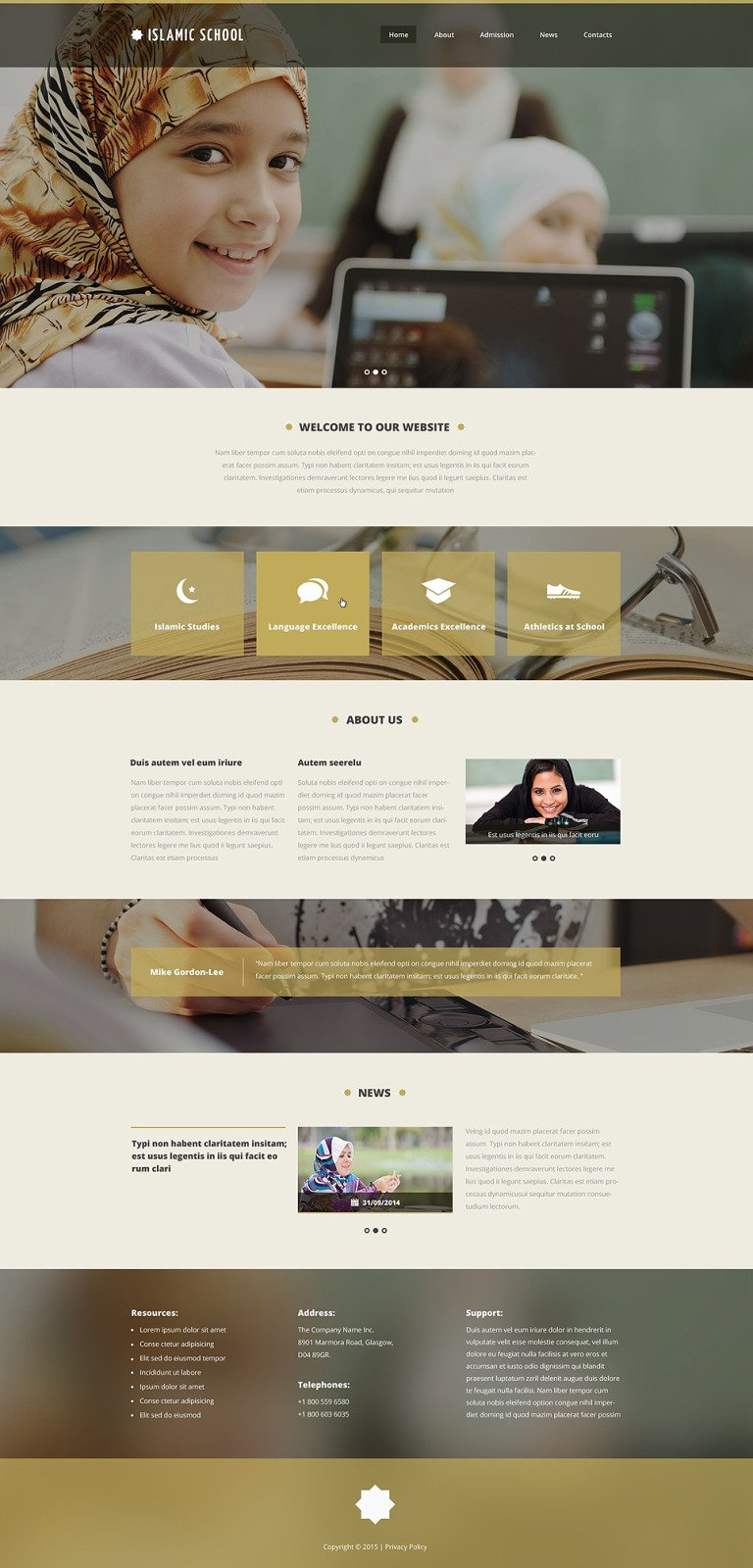 Islamic School Website Template New Screenshots BIG