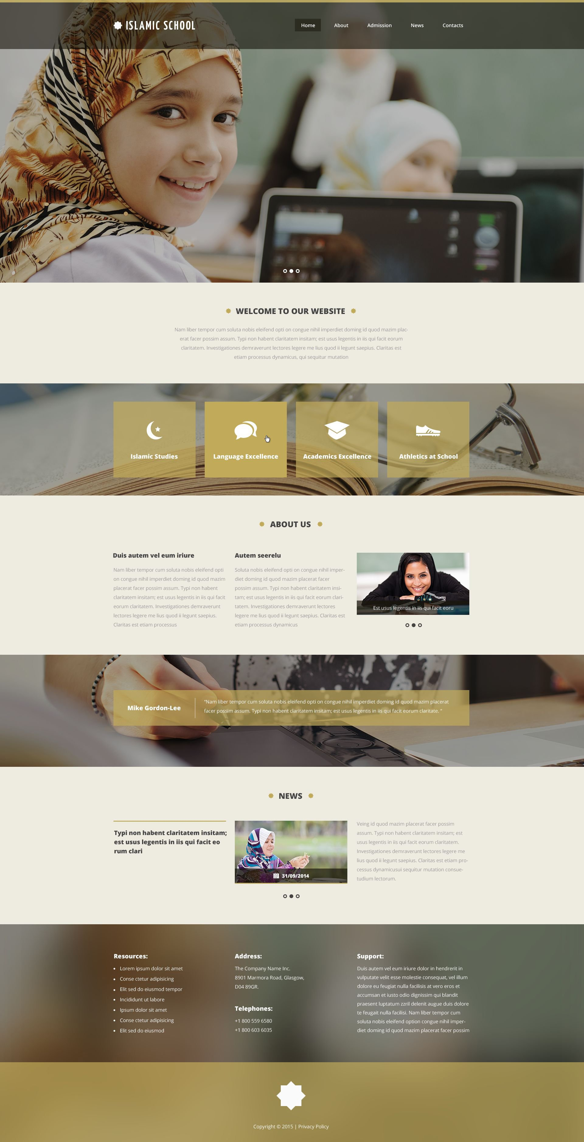 Education website template islamic school website template pronofoot35fo Images