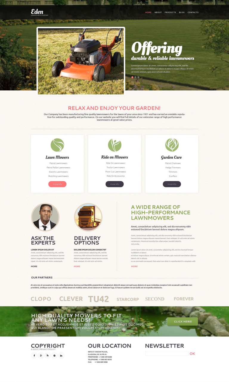 Landscape Design Tools Drupal Template New Screenshots BIG
