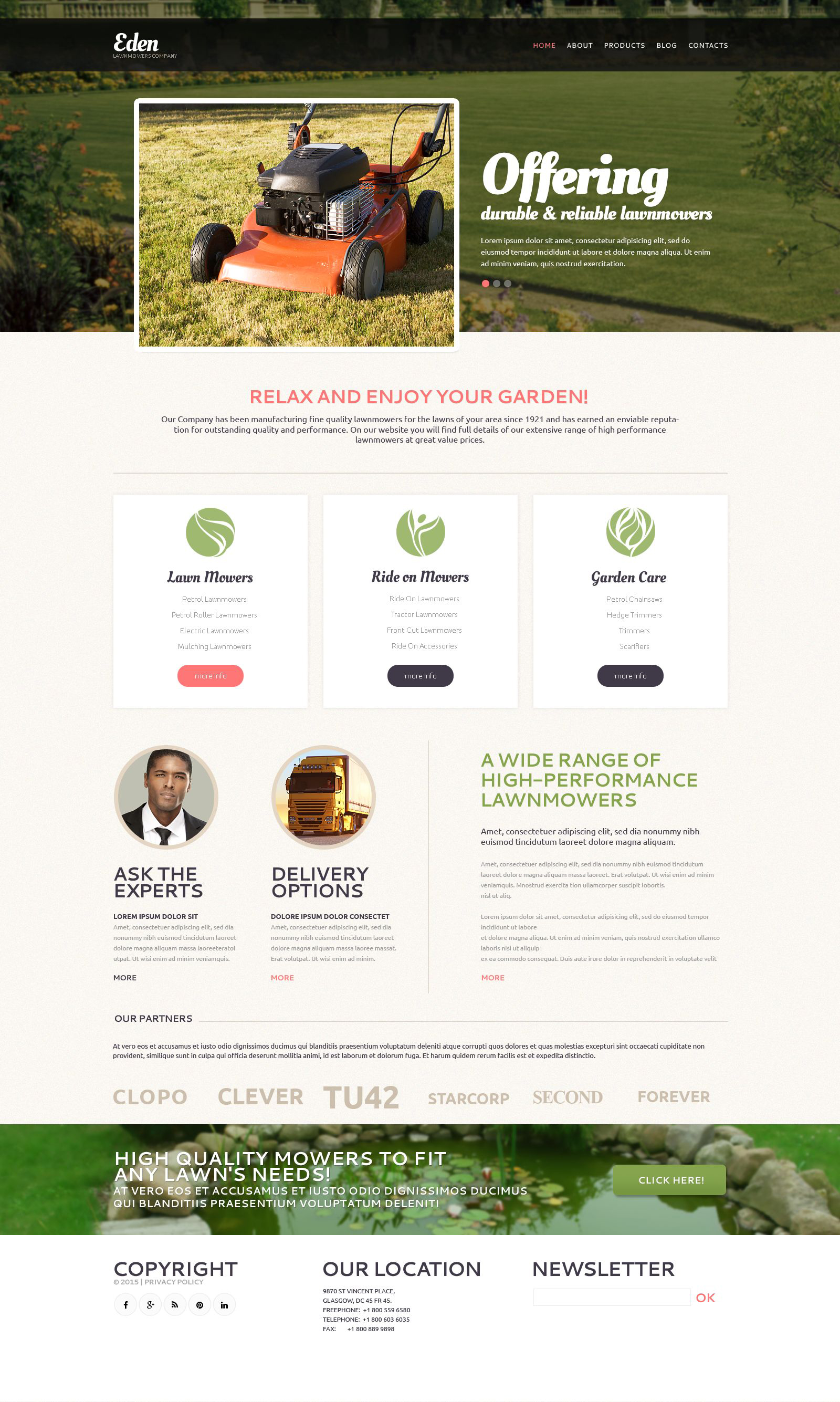 """Landscape Design Tools"" Responsive Drupal Template №53244"