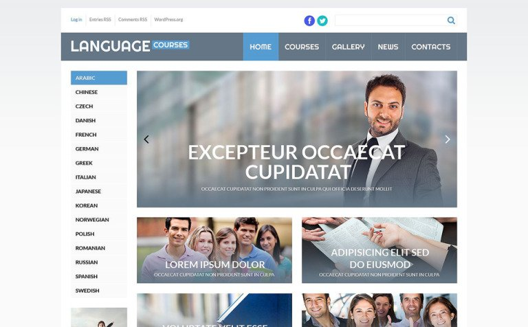 Language Courses WordPress Theme