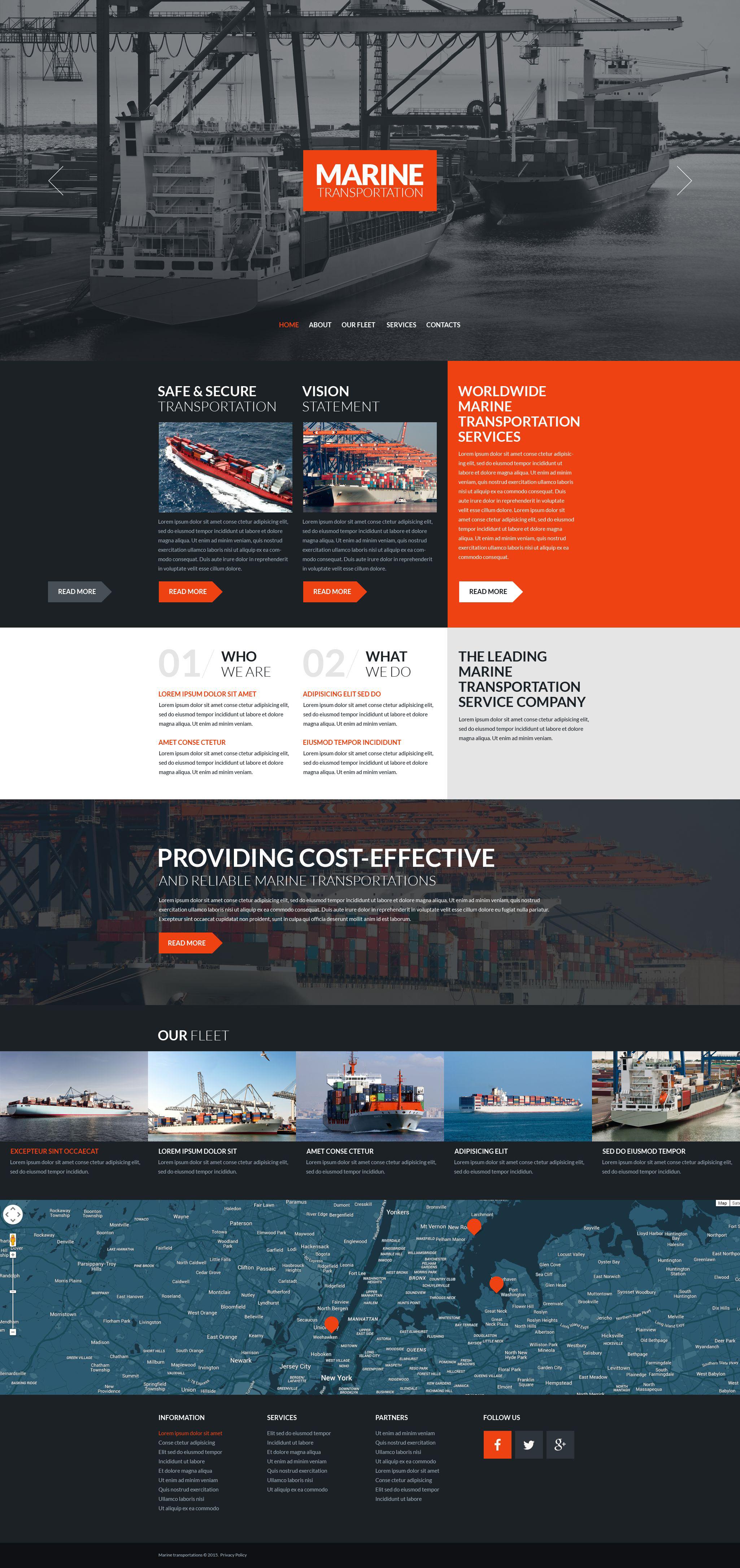 Maritime Responsive Website Template
