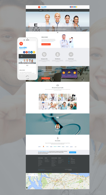 Medical Responsive Moto CMS 3 Template New Screenshots BIG
