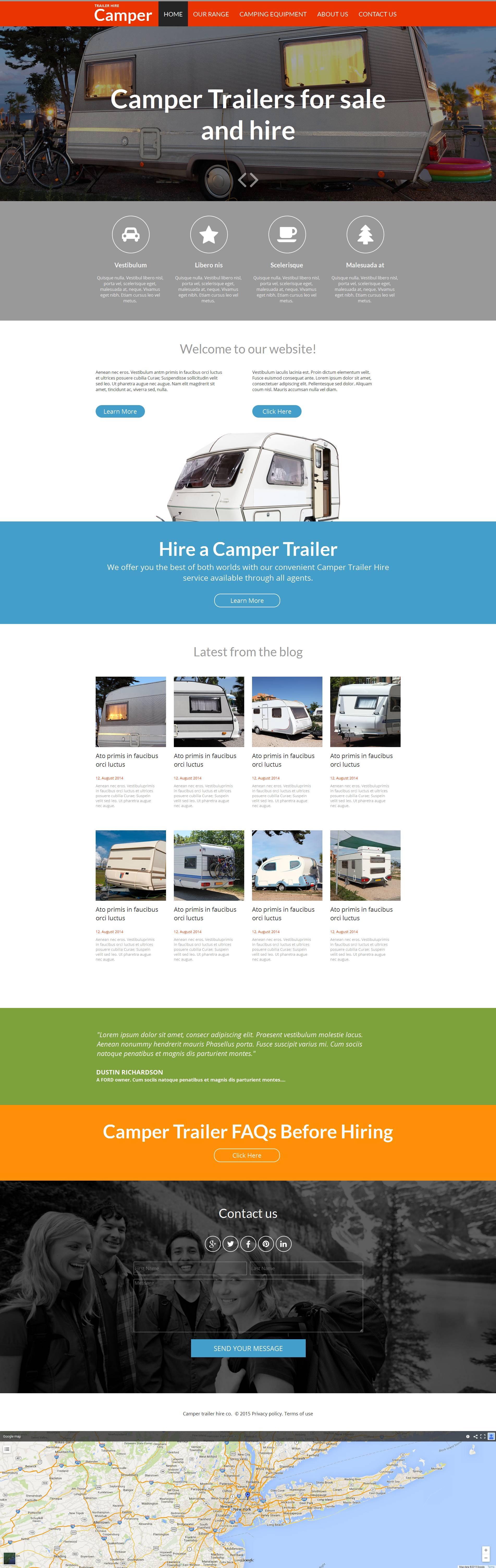 Modèle Moto CMS HTML Premium pour site de camping #53230 - screenshot