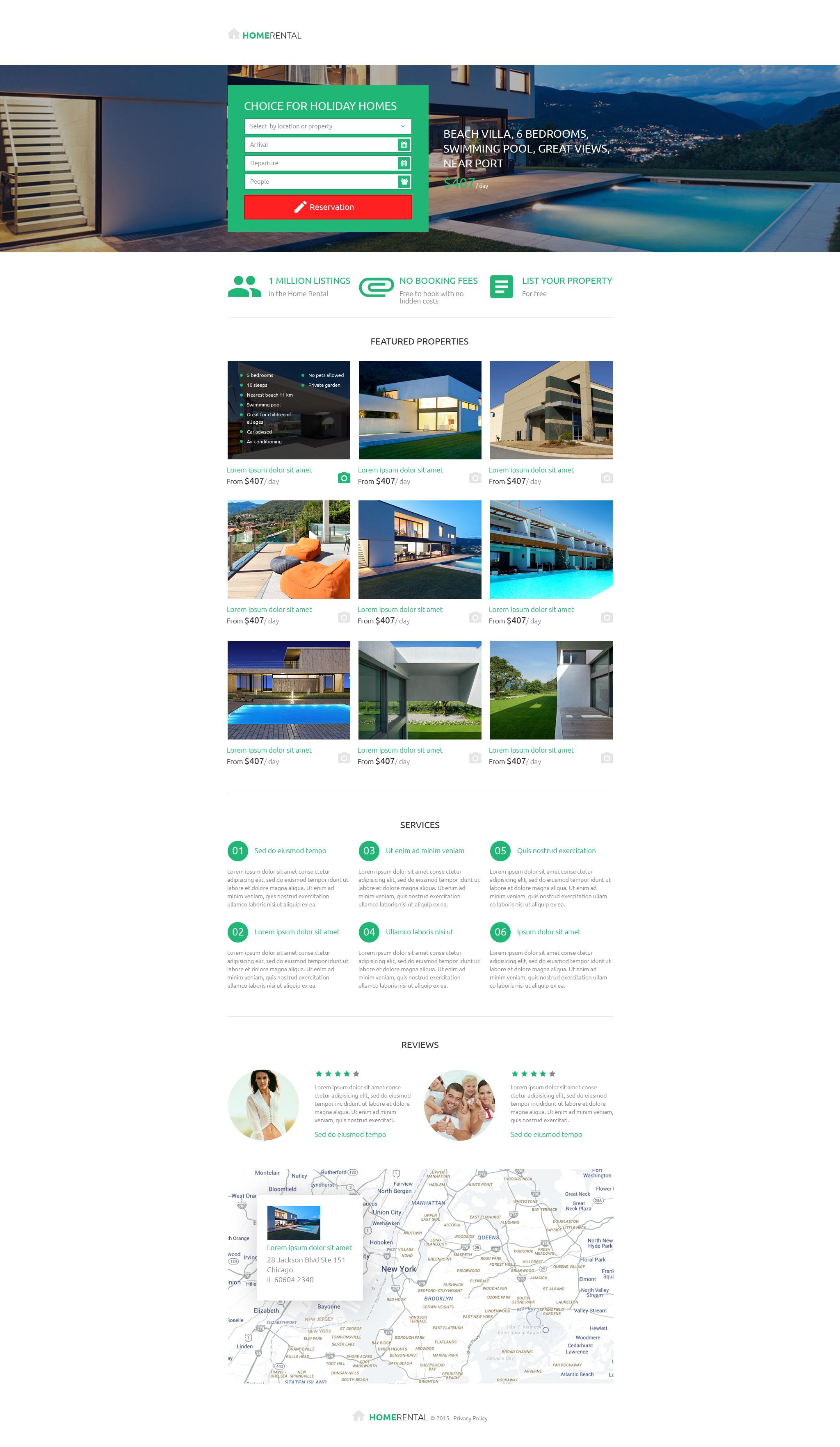 Modèle Unbounce pour site d'agence immobilière #53205
