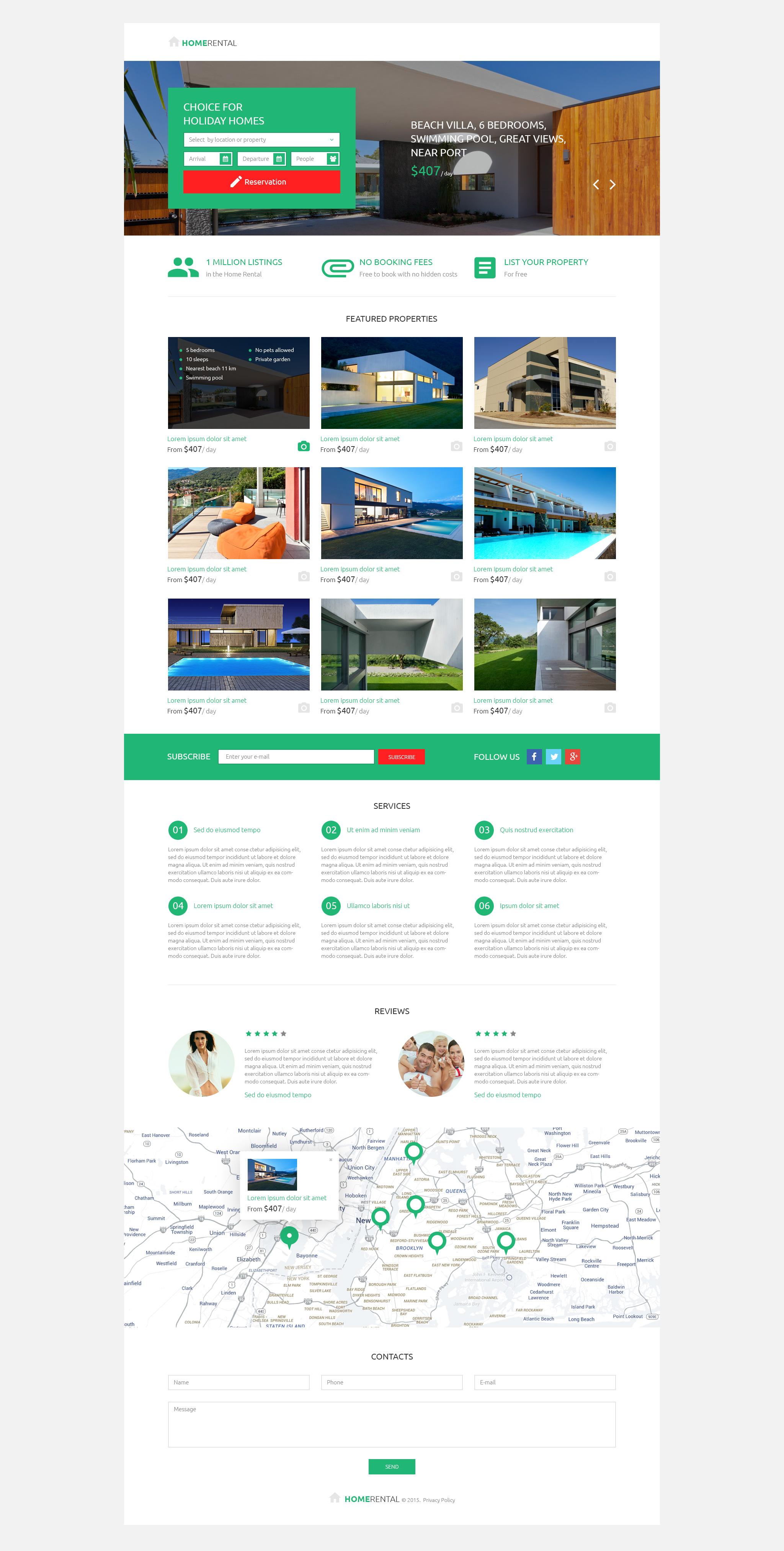 Modello di Landing Page Responsive #53201 per Un Sito di Agenzia Immobiliare
