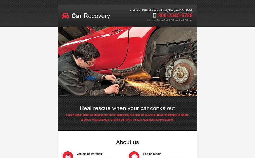 Modello di Newsletter Responsive #53285 per Un Sito di Riparazione Auto New Screenshots BIG