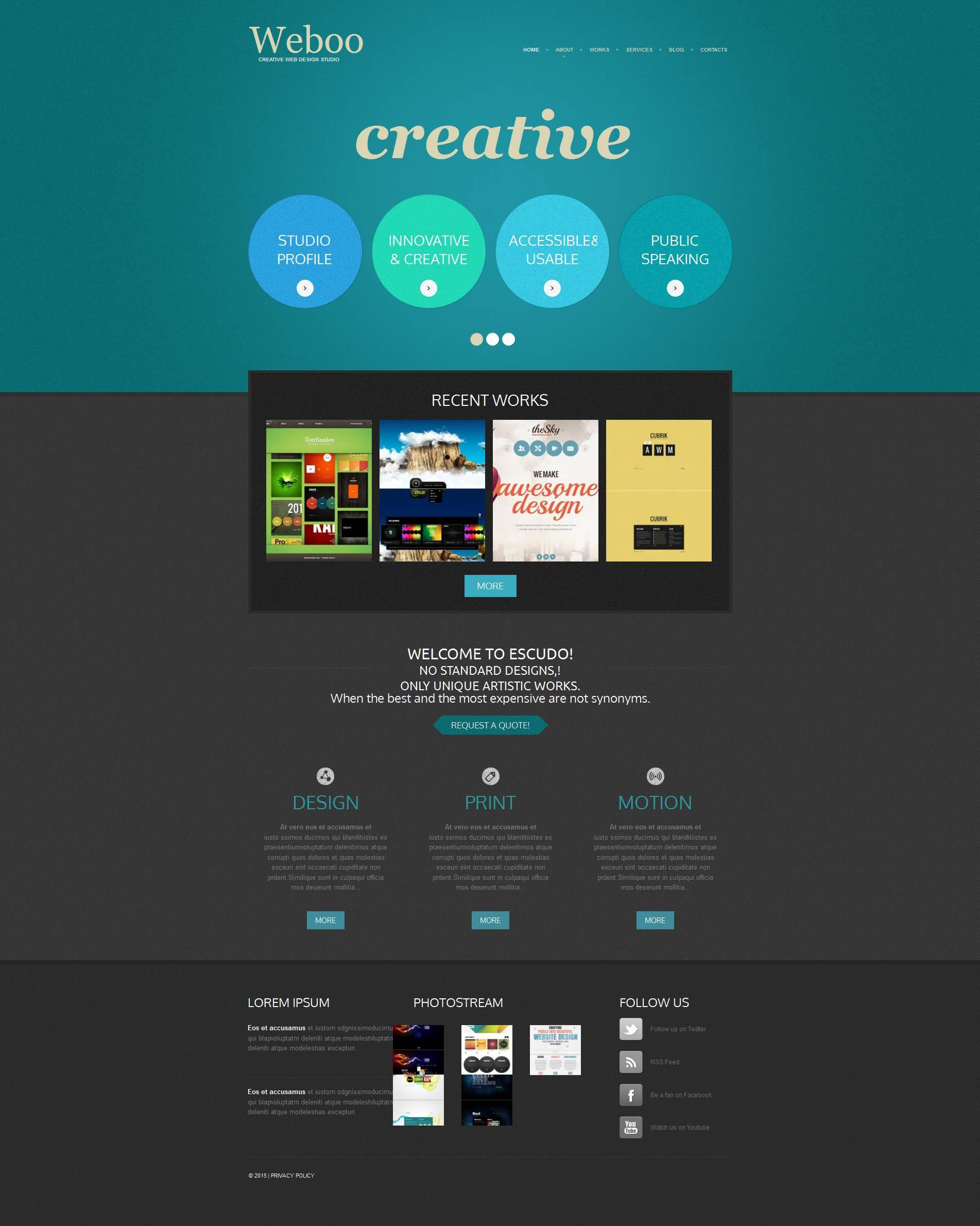 Moto CMS HTML Vorlage für Web Design #53219