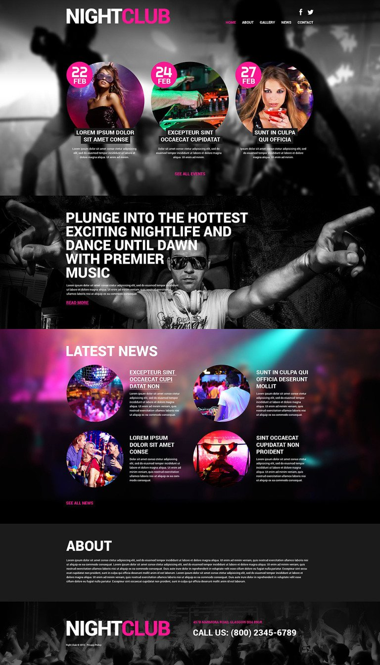 Night Club Euphoria WordPress Theme New Screenshots BIG