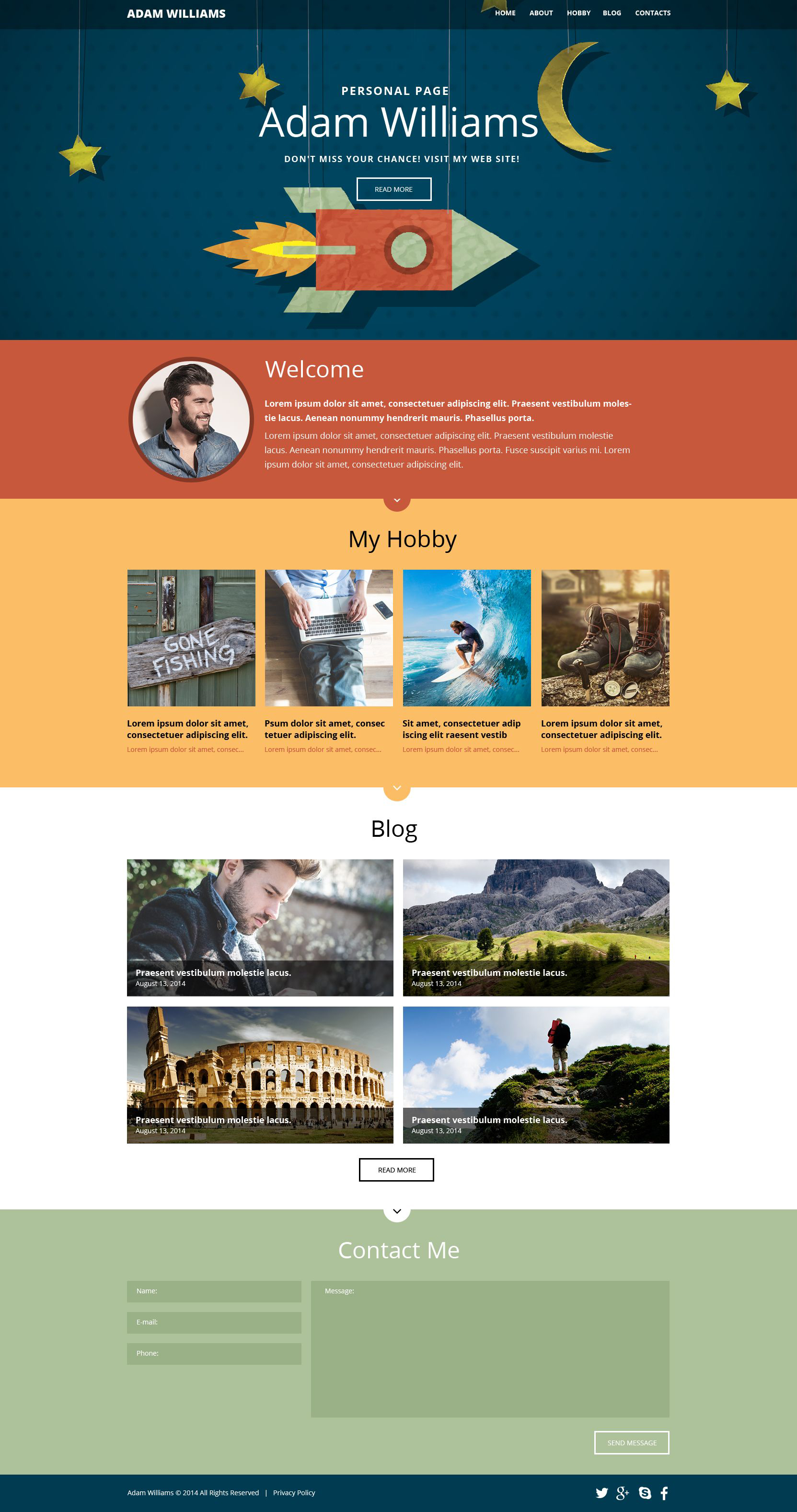 Personal Pages Website Templates
