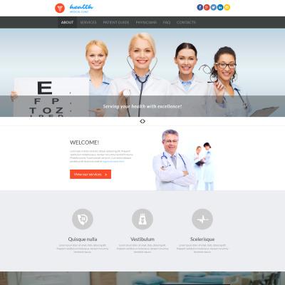 Responsive Plantilla Moto CMS 3  #53228 para Sitio de  para Sitio de Medicina