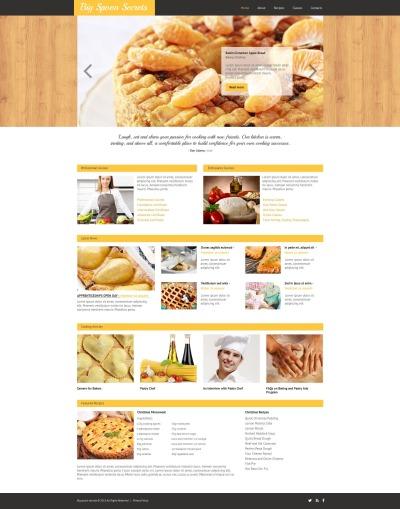 Plantilla Moto CMS HTML #53215 para Sitio de  para Sitio de Escuelad de cocina