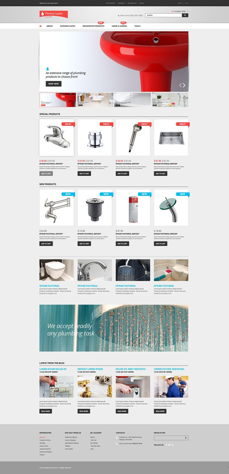 Plumbing Shop Magento Theme New Screenshots BIG