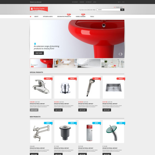 Plumbing Supplies - Magento Template based on Bootstrap
