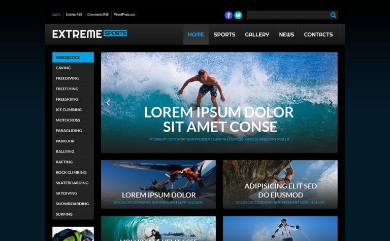 Hermosa Deporte Wordpress Temas Embellecimiento - Colección De ...