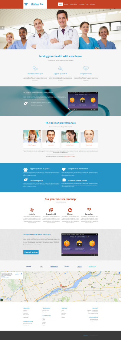 Medical Responsive Moto CMS 3 Şablon
