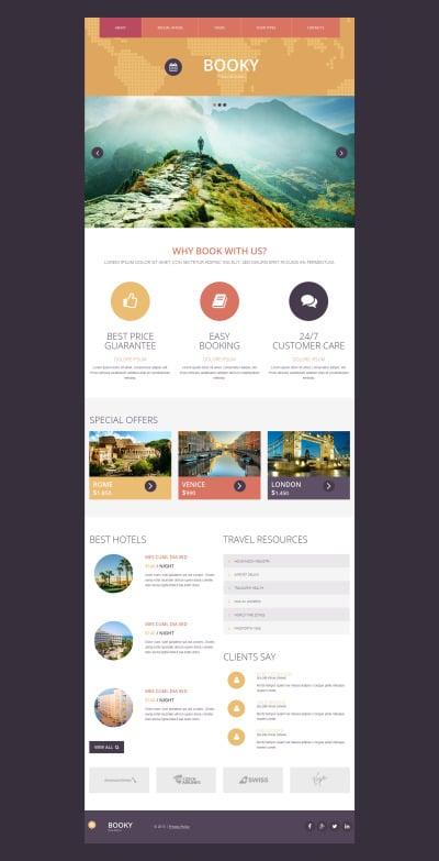 Travel Agency Responsive Moto CMS 3 Şablon