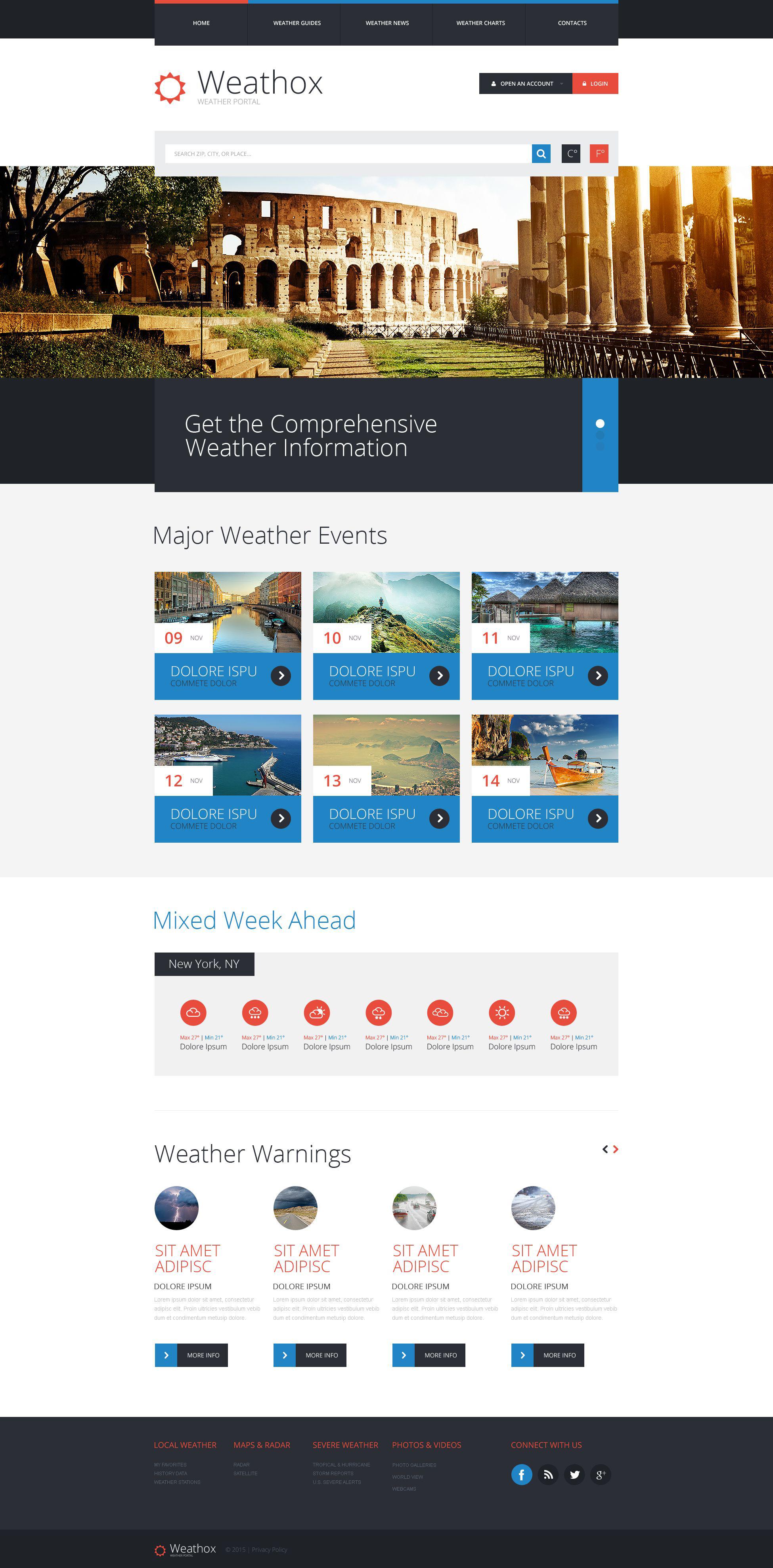 Website Vorlage #53291 für Wetter