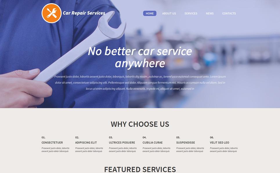 Responsive WordPress thema over Autoreparatie  New Screenshots BIG