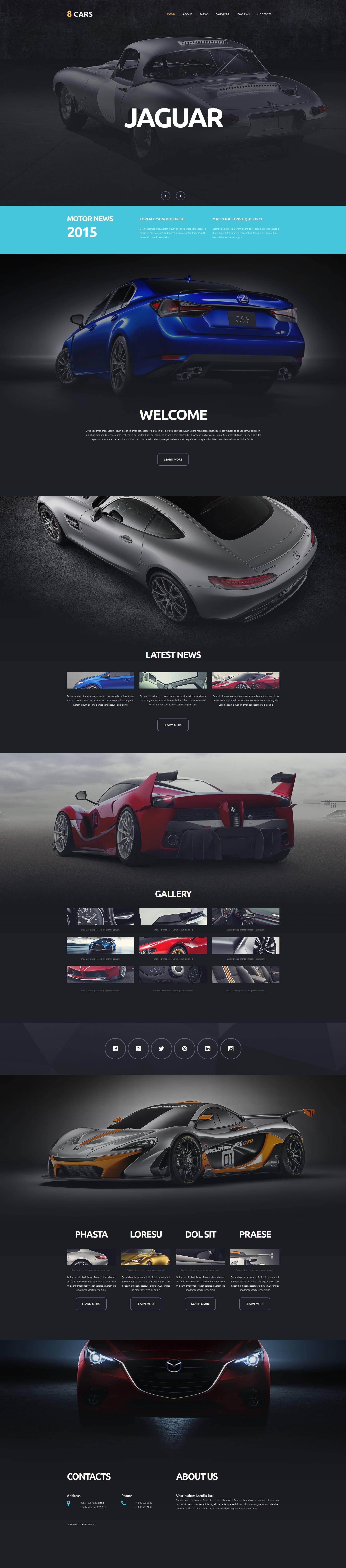Responsives Moto CMS 3 Template für Automobilclub #53237
