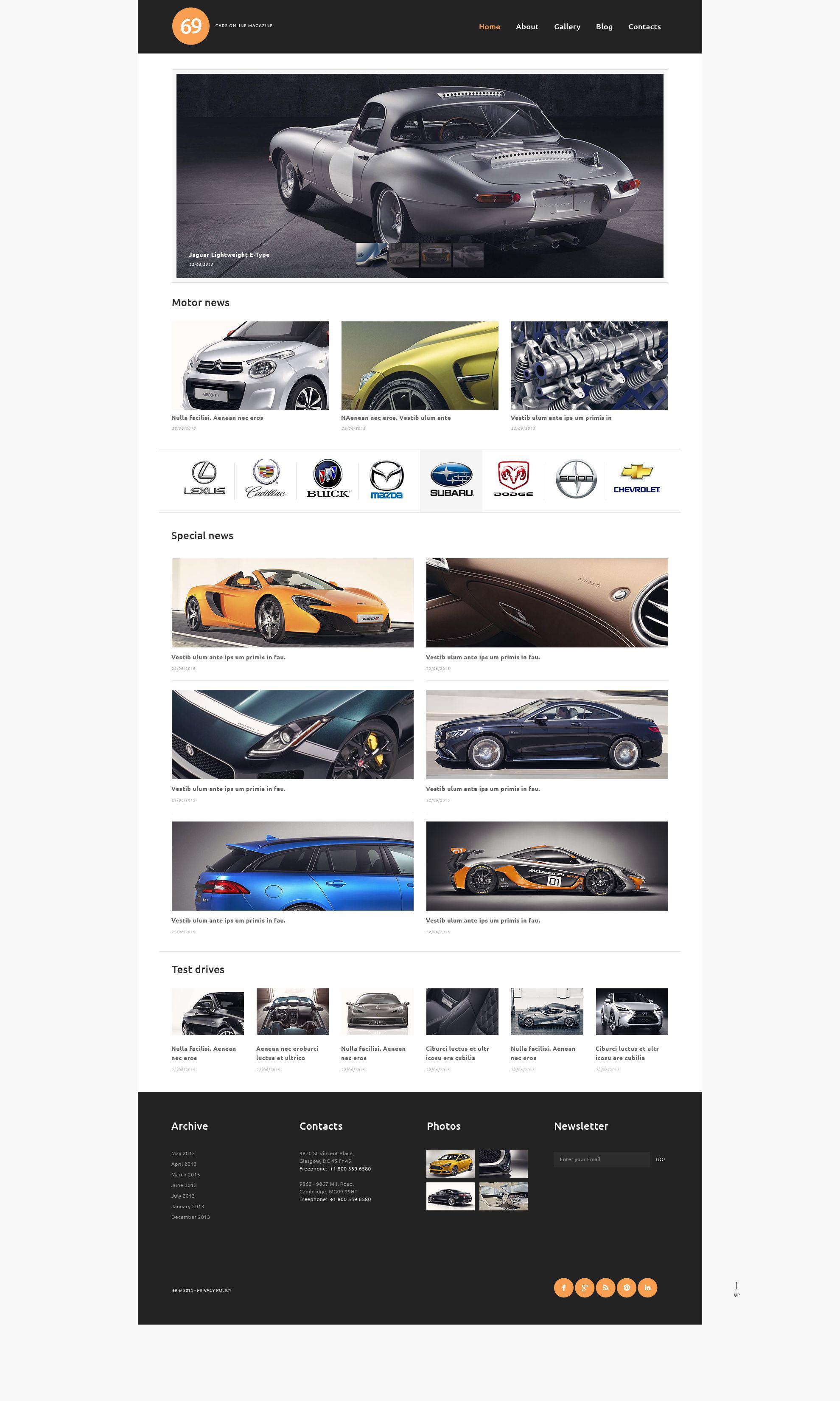 Responsivt Cars Magazine WordPress-tema #53262