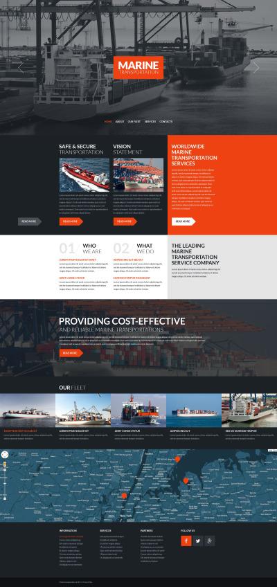 Responsywny szablon strony www #53277 na temat: morskie