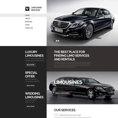 Limousine Services Responsive Šablona Webových Stránek