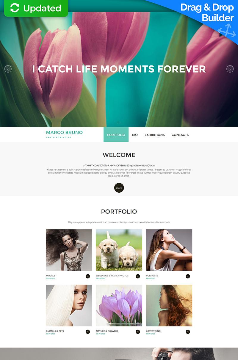 Reszponzív Fényképész portfóliók témakörű Moto CMS 3 sablon 53239 - képernyőkép