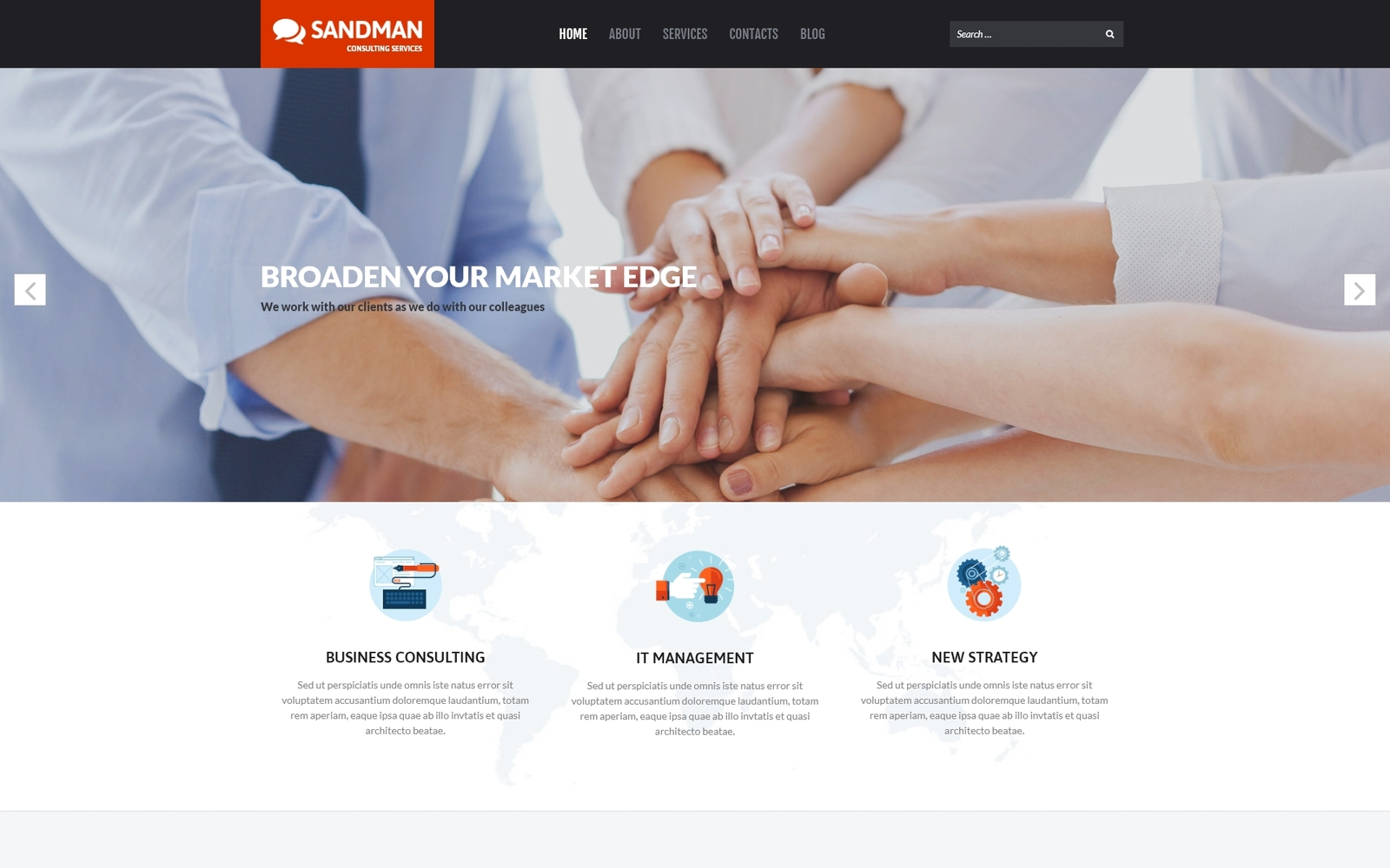 """Sandman - Business Multipurpose Modern Elementor"" Responsive WordPress thema №53265"