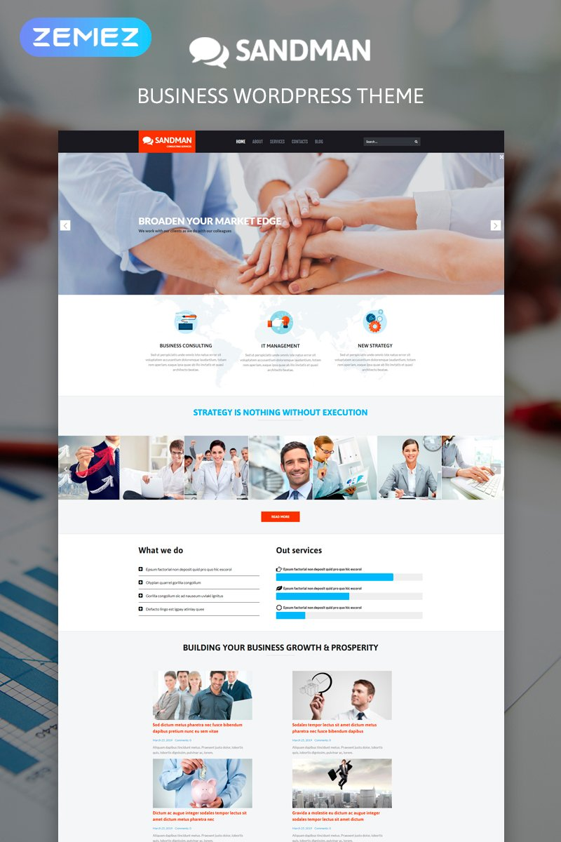 Sandman - Business Multipurpose Modern Elementor WordPress Theme - screenshot