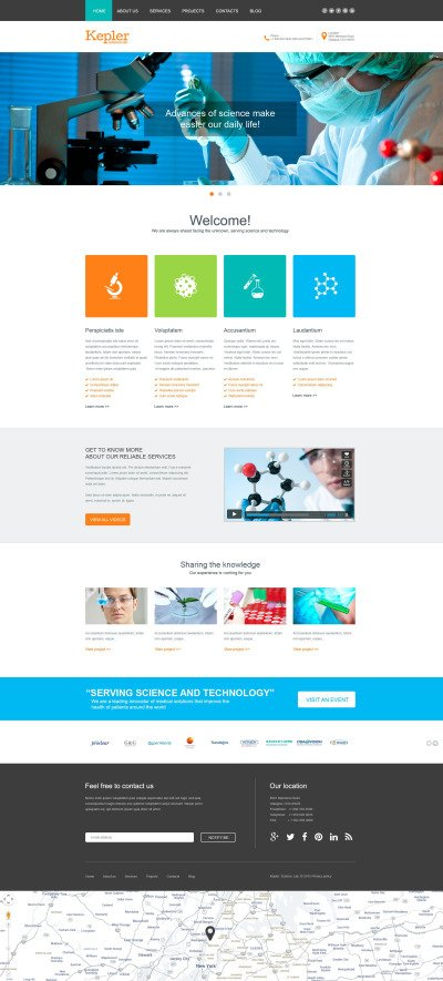 Science Lab Muse Template #53295