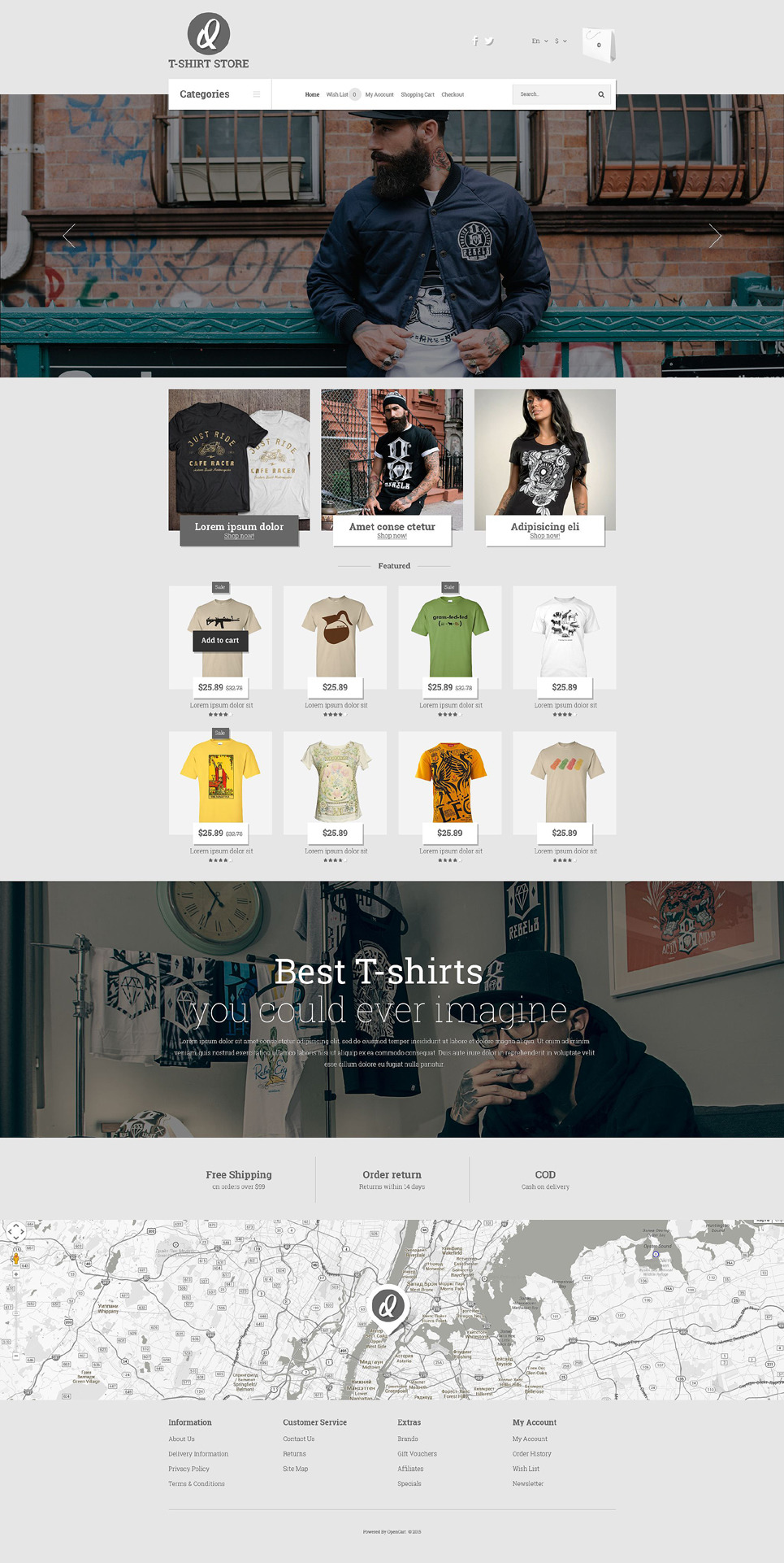 Smart Casual Style OpenCart Template New Screenshots BIG