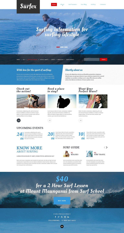 Surfing Blog Joomla Template New Screenshots BIG
